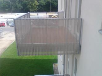 Vorsatzbalkon, wärmegedämmte Fassade