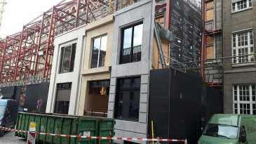 Fassadensanierung mit Musterfassade in Hamburg